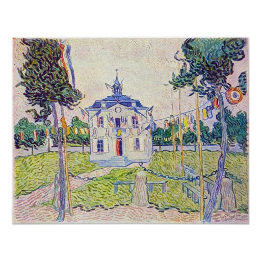 The community house in Auvers by Vincent van Gogh Poster