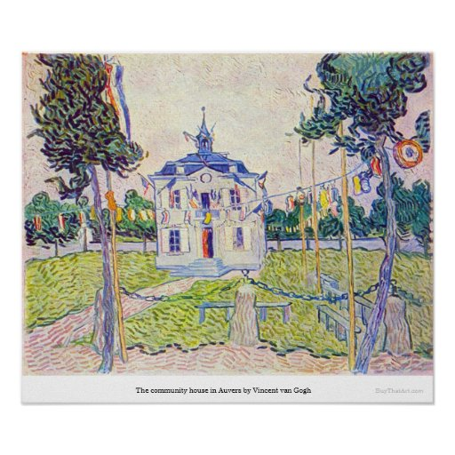 The community house in Auvers by Vincent van Gogh Print