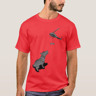 The Complete Dog Treat Airlift by Helicopter T-Shirt