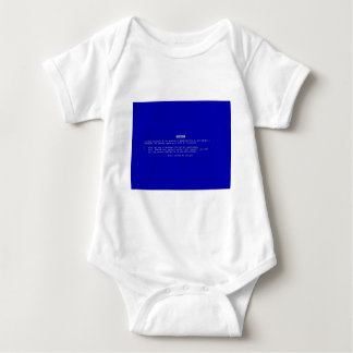 The Computer Blue Screen of Death Baby Bodysuit