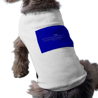 The Computer Blue Screen of Death Doggie Tshirt