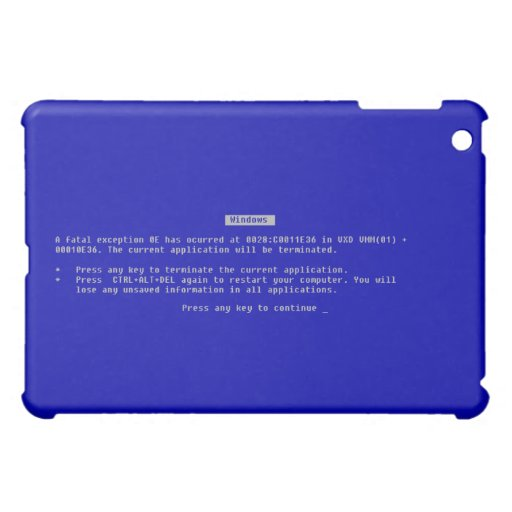 The Computer Blue Screen of Death Cover For The iPad Mini