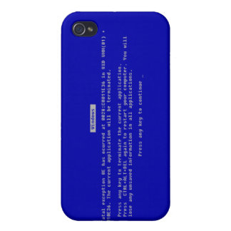 The Computer Blue Screen of Death iPhone 4/4S Cover