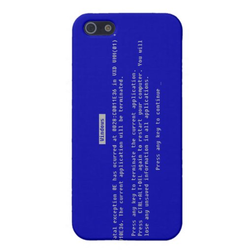 The Computer Blue Screen of Death Covers For iPhone 5