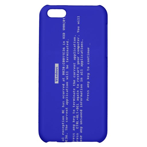 The Computer Blue Screen of Death Cover For iPhone 5C
