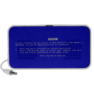 The Computer Blue Screen of Death Notebook Speakers