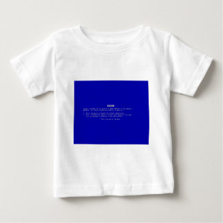 The Computer Blue Screen of Death T-shirts