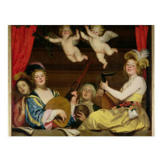 The Concert, 1624 Postcard