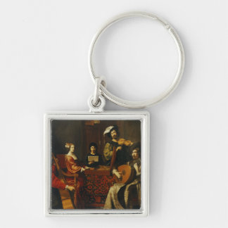 The Concert Silver-Colored Square Key Ring