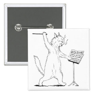 The Conductor Cat Pinback Button