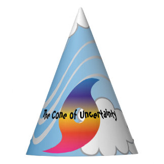 The CONE of UNCERTAINTY Hurricane Gag Joke Gift Party Hat
