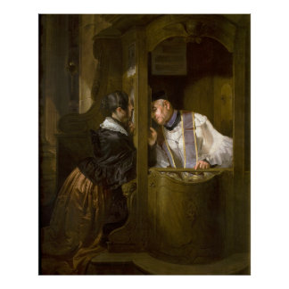 The Confession by Giuseppe Molteni 1838 Poster