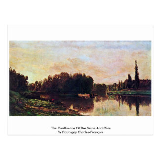 The Confluence Of The Seine And Oise Postcard