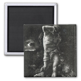 The Conscience or, The Eye Watching Cain Square Magnet