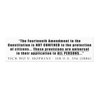 The Constitution Applies to ALL PERSONS Stretched Canvas Print