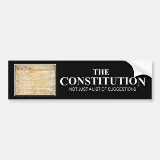 The Constitution Car Bumper Sticker