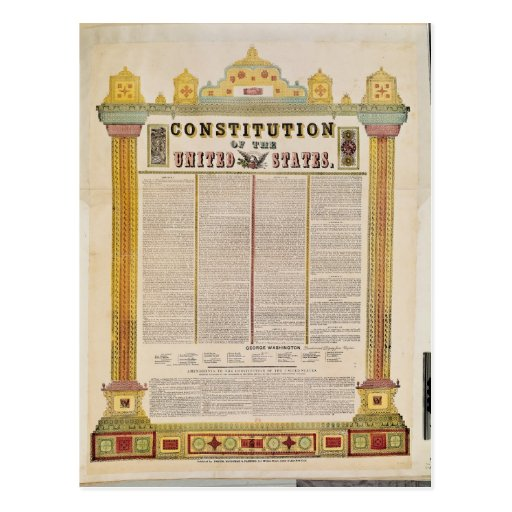 The Constitution of the United States of America Postcards