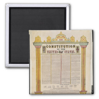 The Constitution of the United States of America Square Magnet