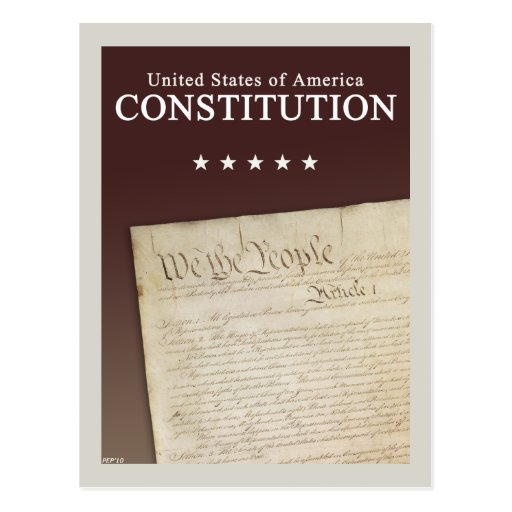 The Constitution Post Card