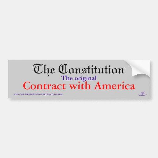 The Constitution, The original Contract Bumper Stickers