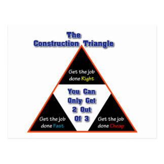 The Construction Triangle Postcard