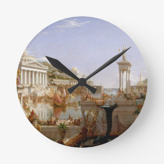The Consummation of Empire by Thomas Cole (1836) Round Clock