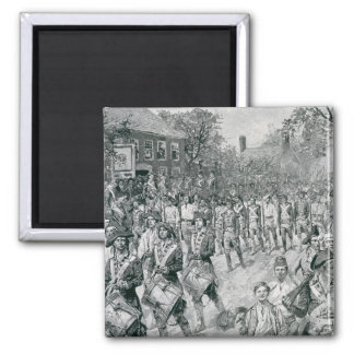 The Continental Army Marching Down the Old Square Magnet