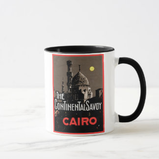 The Continential Savoy, Cairo Travel Poster Mug