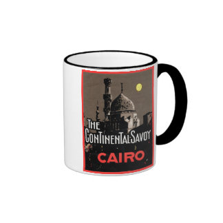 The Continential Savoy, Cairo Travel Poster Coffee Mug