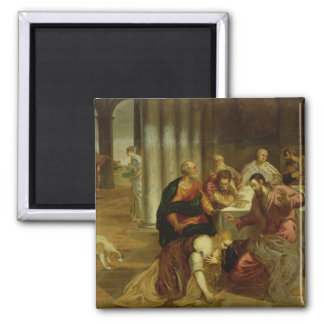 The Conversion of Mary Magdalene, 1546-7 Square Magnet
