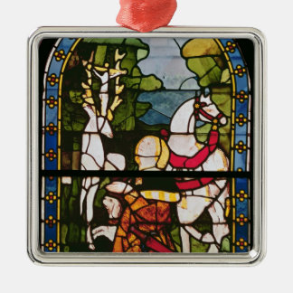 The Conversion of St. Eustace Silver-Colored Square Decoration
