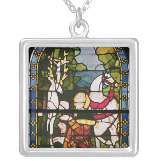 The Conversion of St. Eustace Silver Plated Necklace