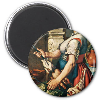 The Cook By Pieter Aertsen (Best Quality) Fridge Magnets