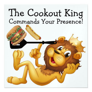 The Cookout King - SRF Invitations