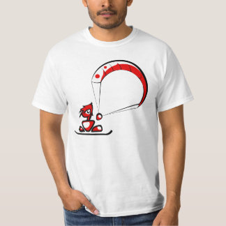 The cool dude kitesurfing cartoon t-shirts