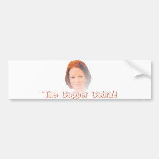 The Copper Cobra Bumper Sticker