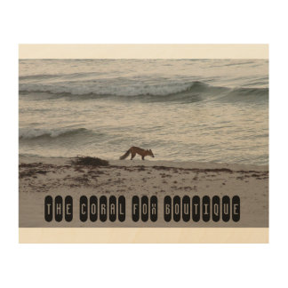 The Coral Fox Beach Pic Wood Wall Decor