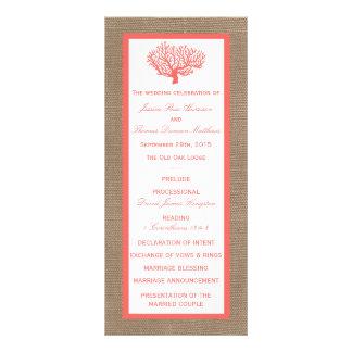 The Coral On Burlap Boho Beach Wedding Collection Custom Rack Card