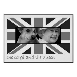The corgi and the queen poster