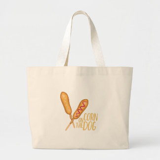 The Corn Dog Large Tote Bag