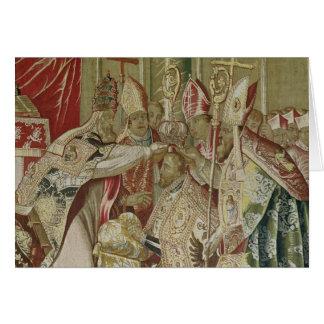 The Coronation of Charles V Greeting Card