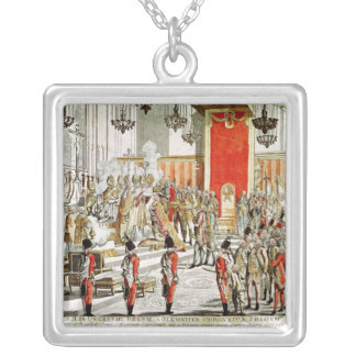 The Coronation of Leopold II  at Bratislava Silver Plated Necklace