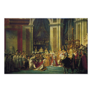 The Coronation of Napoleon by David - Poster