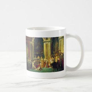 The Coronation of Napoleon by Jacques Louis David Basic White Mug