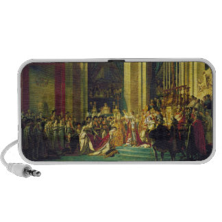 The Coronation of Napoleon by Jacques Louis David iPod Speaker