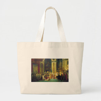 The Coronation of Napoleon by Jacques Louis David Jumbo Tote Bag