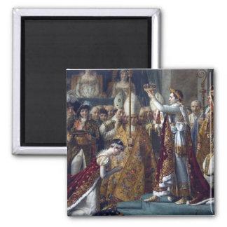 The Coronation Of Napoleon Jean Auguste Dominique Square Magnet