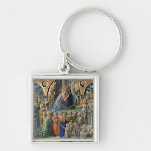 The Coronation of the Virgin, 1441-7 (tempera on p Key Chains