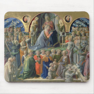 The Coronation of the Virgin, 1441-7 (tempera on p Mouse Pad