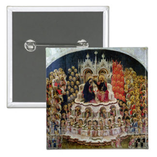 The Coronation of the Virgin in Paradise, 1438 15 Cm Square Badge